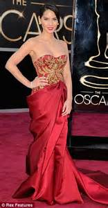 Red Carpet Funny by Oscars 2013 Pregnant Marchesa Designer Georgina Chapman