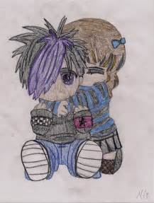 Cute Cartoon Emo Couples Drawings
