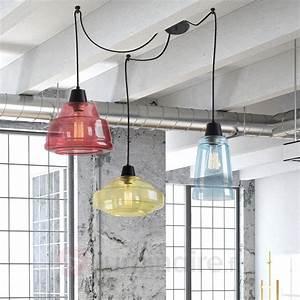 Luminaire Suspension Design Italien : suspension haute en couleurs color 3 lampes style ~ Carolinahurricanesstore.com Idées de Décoration