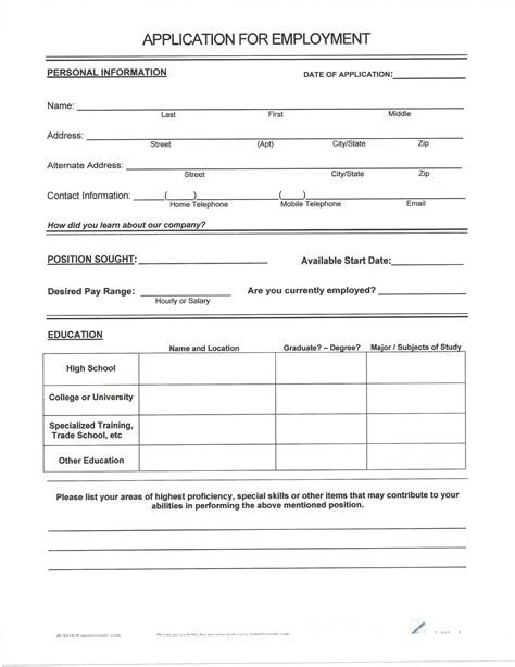 Print A Resume Form by Free Resumes To Fill Out And Print Myideasbedroom