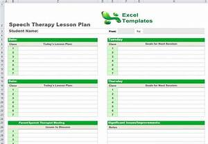 Speech therapy lesson plan template for Speech pathology lesson plan template