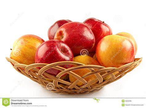 pomme al interieur jaune de panier de pommes photo libre de droits image 9002295