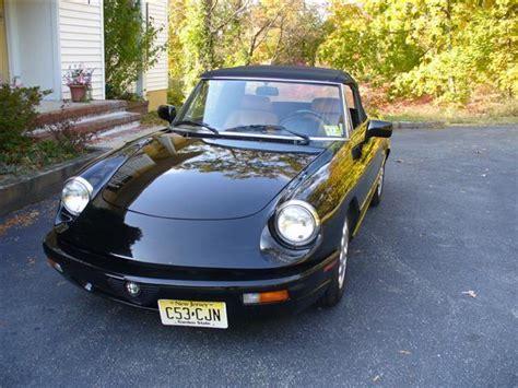 Alfa Romeo Spider Convertible 1993 Black For Sale
