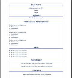 business resume template microsoft word professional word resume template open resume templates