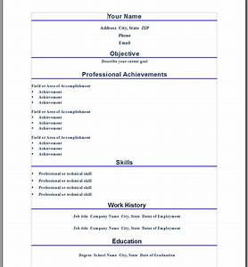 Professional Word Resume Template ← Open Resume Templates