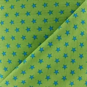 Tissu Velours Bleu Canard : tissu velours milleraies toiles bleu canard fond anis x 10cm ma petite mercerie ~ Teatrodelosmanantiales.com Idées de Décoration