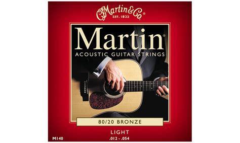 martin m 140 80 20 bronze light acoustic guitar jeu de