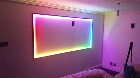 silabs ws2812b rgb led wall light with bluetooth control