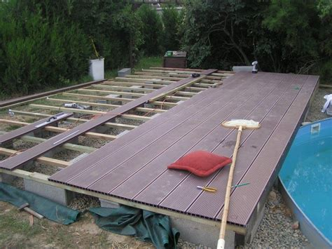 toit de piscine hors sol terrasse bois piscine hors sol agrandir une