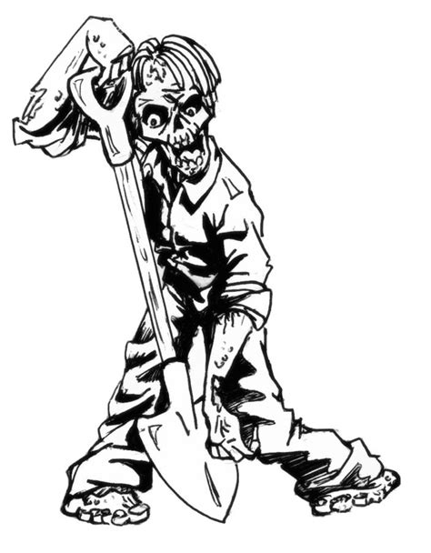 9 free zombie printable coloring pages