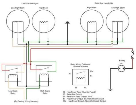 Headlight Relay Wiring Diagram Oldholden