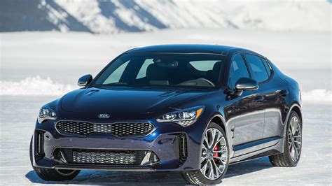 kia gt 2019 2019 kia stinger gt atlantica is all dressed up and blue
