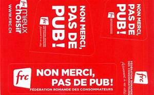 Pas De Pub Merci : autocollants pas de pub f d ration romande des ~ Dailycaller-alerts.com Idées de Décoration