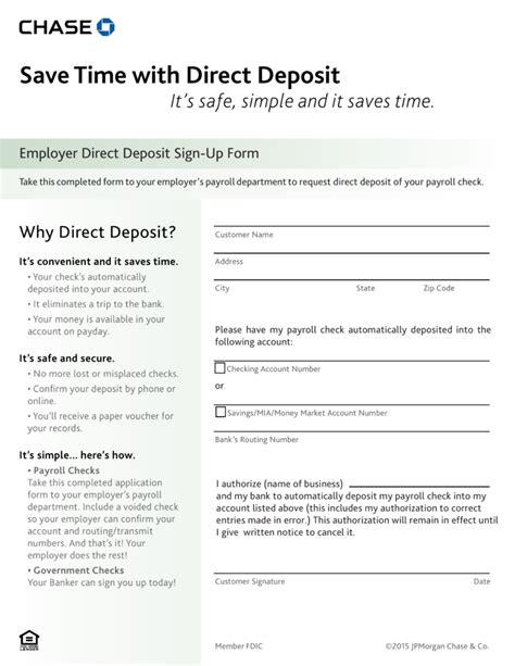 bank letter for direct deposit free bank direct deposit form pdf eforms free
