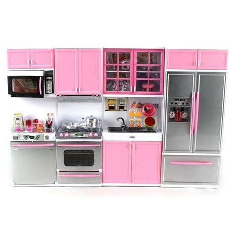 Kitchen Accessories Sets by Deluxe Modern Kitchen Battery Operated Doll Playset Lights