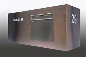 Deutsche Post Briefkasten Kaufen : breiter briefkasten aus corten stahl ~ Michelbontemps.com Haus und Dekorationen