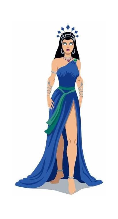 Hera Greek Goddess Vector Illustrations Clip Illustration