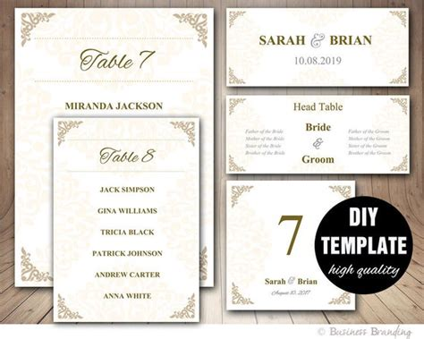 Wedding Table List Template by Gold Wedding Seating Chart Template Wedding Place Card
