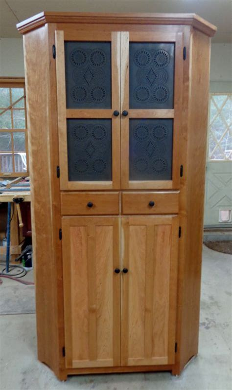 Hand Made Corner Pie Safe by Wood-N-Reflections