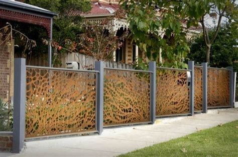 stainless steel fence   chic exterior design fencing garden fence panels metal fence