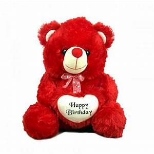 Red Birthday Heart Soft Toy Teddy Bear
