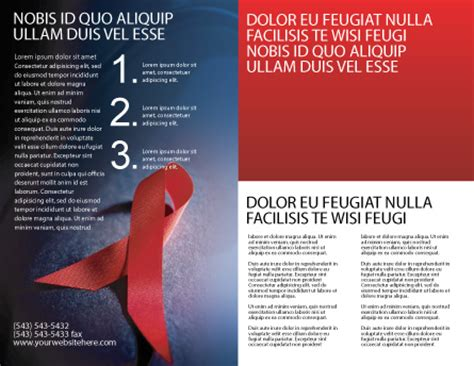 Aids Brochure Template by Aids Brochure Template Design And Layout Now
