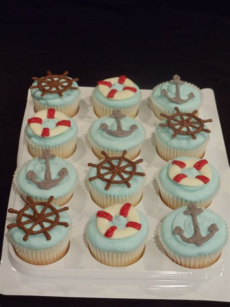 nautical cupcakes cake decorating community cakes  bake
