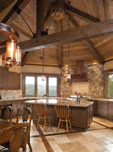 Log Cabin Kitchen Backsplash Ideas by 17 Best Ideas About Cabin Kitchens On Log