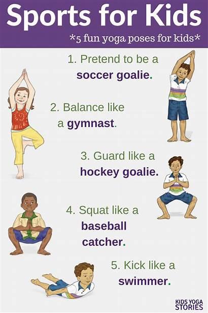 Yoga Sports Poses Play Stories Pretend Kid