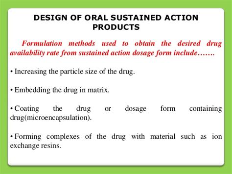 repeat action dosage form sustained release drug delivery system
