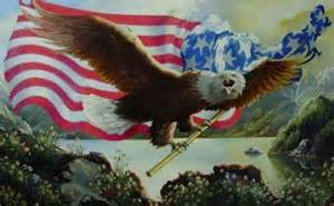 Eagle Carrying American Flag