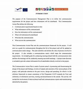sample project communication plan researchmethodsweb With communication action plan template