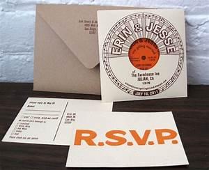 vintage vinyl wedding details With diy record wedding invitations