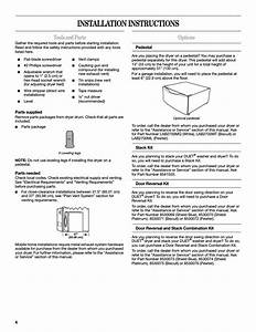 Installation Instructions  Tools And Parts  Options