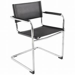 Chaise Design Metal : chaise design tahiti en simili cuir r sistant et m tal chrom noir ~ Teatrodelosmanantiales.com Idées de Décoration