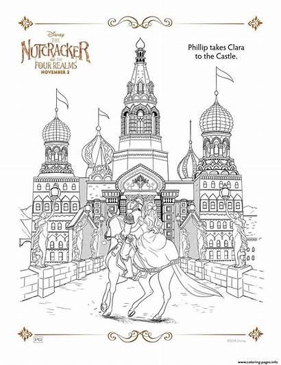 Nutcracker Coloring Clara Printable Casle Takes Philip