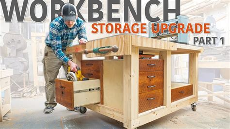 double flip top workbench storage upgrade part