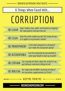 corruption toolkit business as mission With bribery and corruption policy template