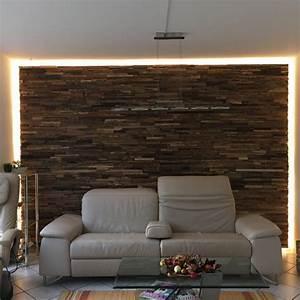 Wandverkleidung Holz Innen Schlafzimmer Braune Wandfarbe