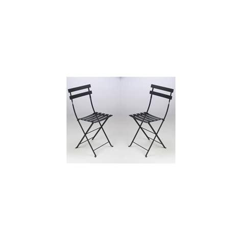 chaise pliante métal lot de 2 contemporain chaise de chaise pliante bistro en métal noir fermob lot de 2