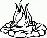 Coloring Fire Wecoloringpage Camp sketch template