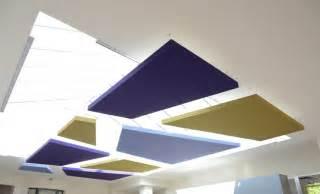 dalle faux plafond acoustique dalles acoustiques compos 233 es d une toile tendue et d un absorbant phonique int 233 gr 233 projet
