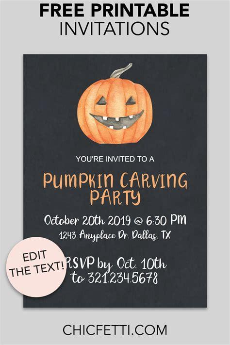 Jack o' Lantern Printable Invitation Halloween