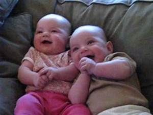 Twin Babies Laughing at Fake Sneezes - YouTube