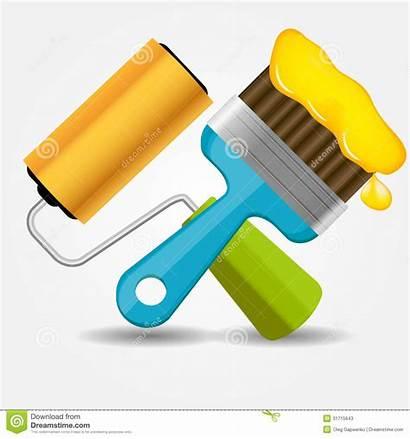 Brush Paint Vector Roll Icon Illustration Roller