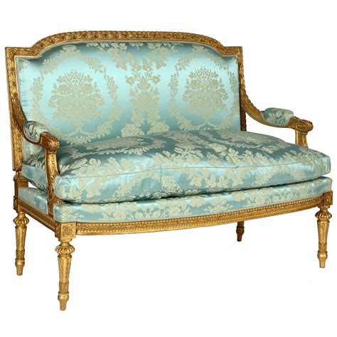 Louis Settee by Giltwood Louis Xvi Style Settee At 1stdibs