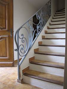 Rampe d'escalier en fer forgé sur mesure HV Creation