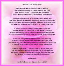 Thinking of You My Friend Poem