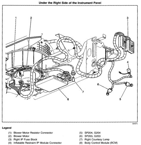 chevy impala bcm location wiring automotive wiring