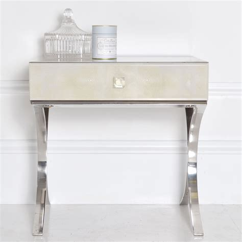 Nightstand Metal Legs by White Nightstand With Metal Legs Glorious Bedside Table